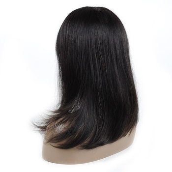 Vvwig 1B Hair Color Natural Hairline Pre Made Glueless Straight Wigs Human Hair Lace Front Wigs For Women - Vvwig.com