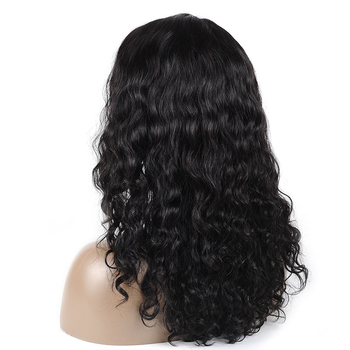 Vvwig Breathable 1B Hair Color Pre Made Glueless Natual Wave Wigs Realistic Human Hair Lace Front Wigs - Vvwig.com