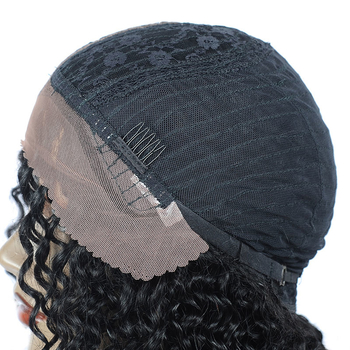 Vvwig Virgin Hair Kinky Curly Wigs 1B Hair Color Pre Plucked Natural Hairline 100% Human Hair Lace Front Wigs - Vvwig.com