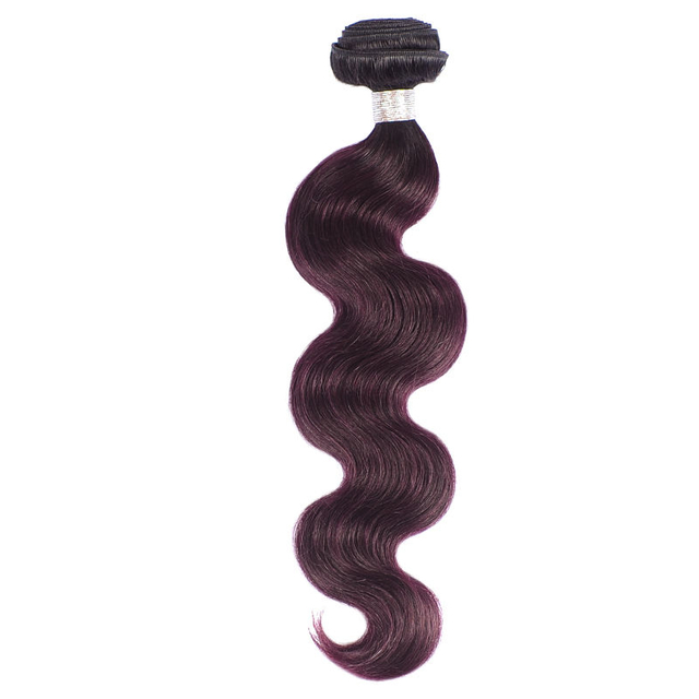 Vvwig 1B Grape Purple Shedding Free Brazilian Body Wave Bundles Virgin Hair Extensions 1 Bundle - Vvwig.com