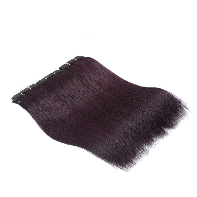 Vvwig Grape Purple Straight Bundles Peruvian Human Hair 3 Bundles 100% Unprocessed Hair 10A Grade