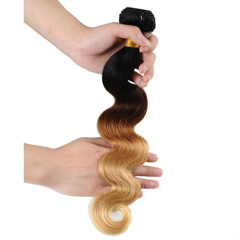 Vvwig Smooth Touch 1B 30 27 Ombre Hair Premium Body Wave Hair 3 Bundles With Closure 100% Human Hair - Vvwig.com