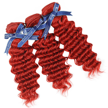 Vvwig 100 Unprocessed Hair 10A Grade Indian Red Hair 3 Bundles With Deep Curly Hair Closure No Chemical No Smell - Vvwig.com