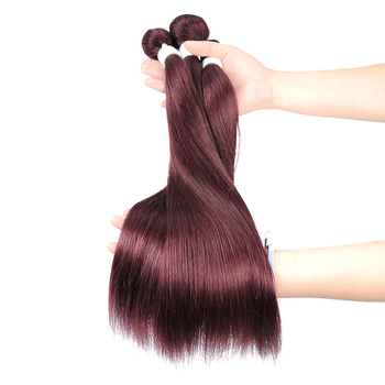 Vvwig Unprocessed Hair 99J Hair Color Super Soft Straight Human Hair 3 Bundles With Frontal Good Feeling - Vvwig.com