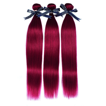 Vvwig Fashion Bug Color Virgin Brazilian Straight Hair Healthy 3 Bundles With Frontal 13*4 Inch Lace - Vvwig.com