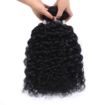 Vvwig Natural Looking Natural Black Water Wave Hair Good Feeling Indian Human Hair 3 Bundles With Closure - Vvwig.com