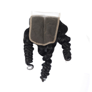 Vvwig Breathable Natural Color 4*4 Inch Good Lace Closure Brazilian Human Hair Loose Wave Closure - Vvwig.com