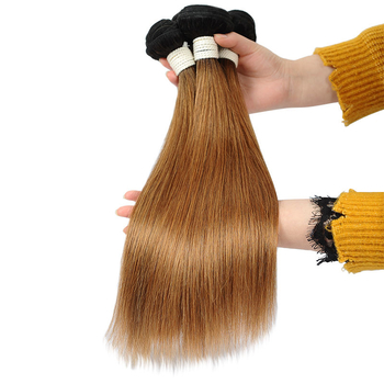 Vvwig 1B 30 Ombre Color No Chemical Healthy Straight Hair Brazilian 3 Bundles With Closure True To Length - Vvwig.com