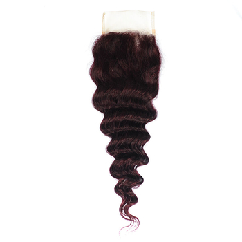 Vvwig 1B Grape Purple Ombre Color Indian Human Hair Deep Wave Hair 4 Bundles With Closure Good Feeling Tangle Free - Vvwig.com