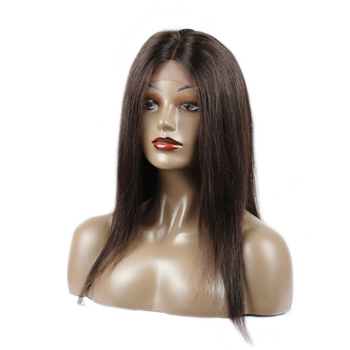 Vvwig Super Soft 2# Dark Brown Lace Front Wigs 20 Inch Human Hair Silky Shine Straight Wigs Grade 8A Quality - Vvwig.com