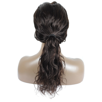 Vvwig Off Black Or Dark Brown Color Natural Wave Wigs Natural Hairline 100% Human Hair Lace Front Wigs - Vvwig.com