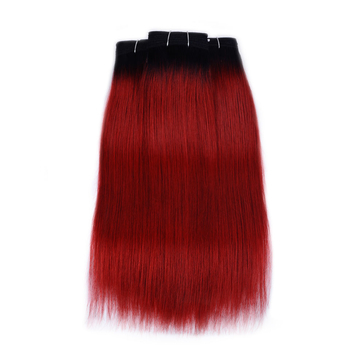 Vvwig 1B Red Ombre Color Unprocessed Hair Straight Bundles Indian Weave Hair 3 Bundles Shedding Free - Vvwig.com