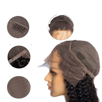 Vvwig Malaysian Hair Kinky Curly Wigs Natural Hair Colors Full Lace Wigs 150 Density With Hand tied Lace - Vvwig.com