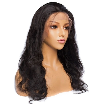 Vvwig Natural Looking Natural Black Malaysian Body Wave Wigs 150 Density Remy Hair Breathable 360 Lace Wig - Vvwig.com