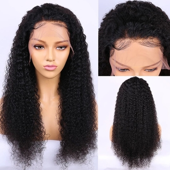 Vvwig Soft Smooth 150% Natural Black Lace Front Wigs Deep Curly Wigs Remy Hair 13x4 Lace Wig With Natural Baby Hair - Vvwig.com
