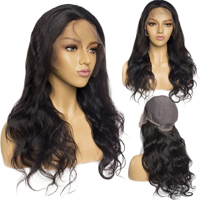 Vvwig Brazilian Hair Body Wave Wigs Pre Plucked Lace Front Wig 150% Density Natural Hairline 13x4 Lace Wig