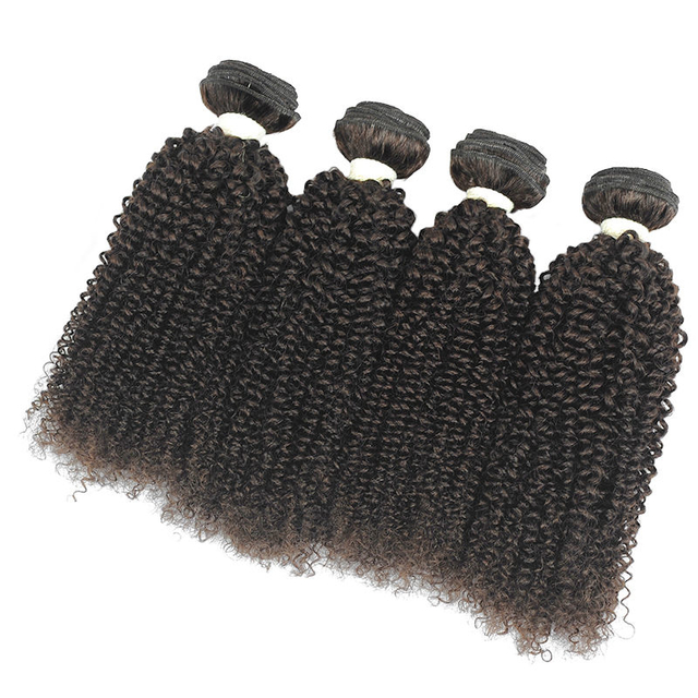 Vvwig #2 Indian Kinky Curly Hair Bundles No Shedding No Tangle Weave Hair 4 Bundles Full And Thick - Vvwig.com