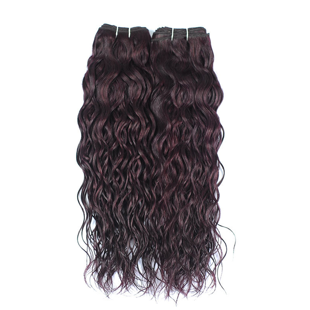 Vvwig Grape Purple Water Wave Bundles Double Weft Virgin Human Hair 2 Bundles No Shedding Soft Ends