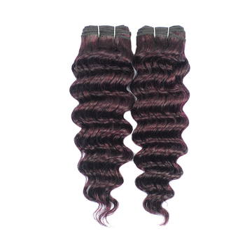 Vvwig 135 Grape Purple Ombre Hair Deep Wave Bundles Human Hair Healthy Hair End 2 Bundles No Chemical Processed - Vvwig.com