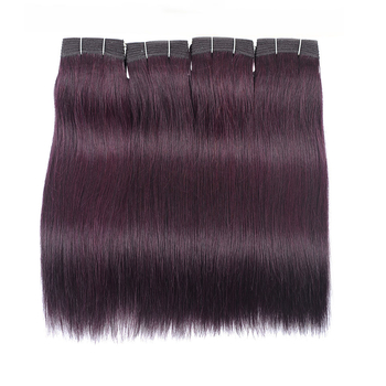 Vvwig Grape Purple Indian Straight Bundles Very Clean Weave Hair 4 Bundles 100% Unprocessed Human Hair - Vvwig.com