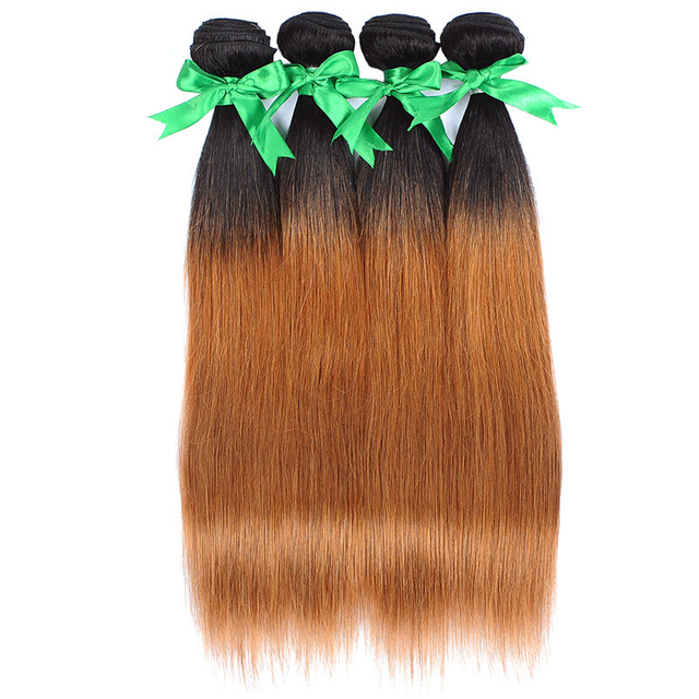 Vvwig 1B 30 Brazilian Hair 4 Bundles Weave Hair 100% Unprocessed Hair 10A Grade Straight Bundles