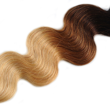 Vvwig 1B 30 27 Ombre Color Weave Hair 4 Bundles Virgin Human Hair Extensions No Tangle Body Wave Bundles - Vvwig.com