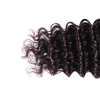 Vvwig Virgin Hair 1B Bug Ombre Hair One Direction Cuticle Deep Wave Hair Soft Ends 3 Bundles With Closure - Vvwig.com