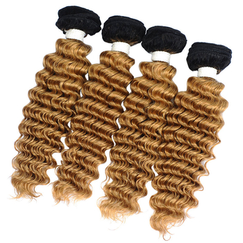 Vvwig Virgin Hair 1B 27 Ombre Hair 4pcs Bundles With Deep Wave Closure 100% Real Human Hair Steam Processed - Vvwig.com