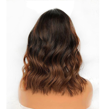 Vvwig Trendy Short Hair 1B 30 Ombre Hair Bob Wigs Body Wave Remy Hair Natural Hairline 360 Lace Wig - Vvwig.com