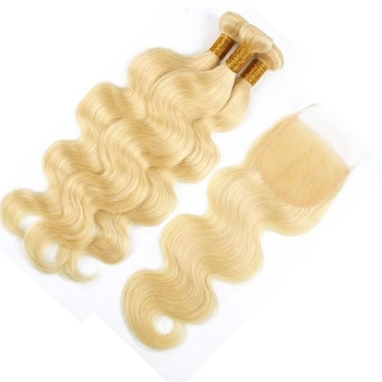 Vvwig Unprocessed Hair 613 Body Wave Hair Smooth Touch Breathable Human Hair 3 Bundles With Closure - Vvwig.com
