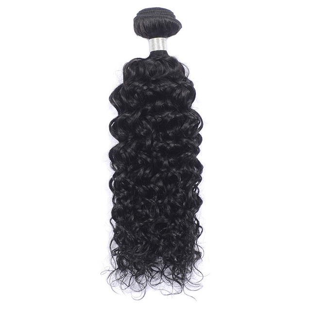 Vvwig Natural Black Or Can Be Customed 1 Bundle Virgin Human Hair Double Weaving Water Wave Bundles