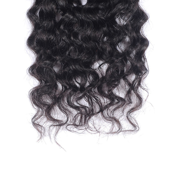 Vvwig Natural Black Or Can Be Customed 1 Bundle Virgin Human Hair Double Weaving Water Wave Bundles - Vvwig.com