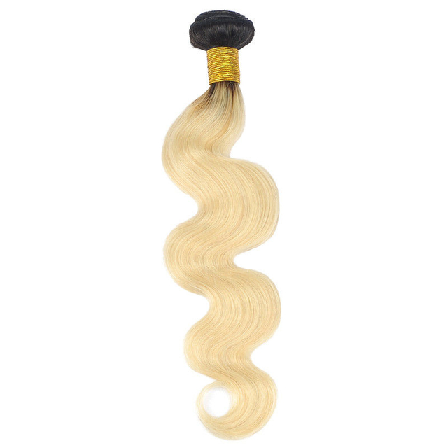 Vvwig 1B 613 Ombre Hair Body Wave Bundles Indian 100% Human Hair 1 Bundle Healthy Bouncy Shinny With Hightest Elasticity