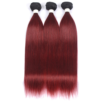 Vvwig 1B 99J Ombre Color Straight Bundles Glossy And Clean Indian Weave Hair 3 Bundles No Lice / Knit - Vvwig.com