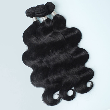 Vvwig Natural Black Or Can Be Customed Body Wave Bundles Indian Virgin Hair Extensions 3 Bundles - Vvwig.com