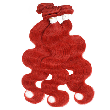 Vvwig Red Hair Body Wave Bundles No Shedding No Tangle Indian Human Hair 3 Bundles Super Soft - Vvwig.com