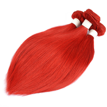 Vvwig Red Hair Extensions Silky Straight Bundles Indian Hair Weave 3 Bundles 100% Human Hair - Vvwig.com