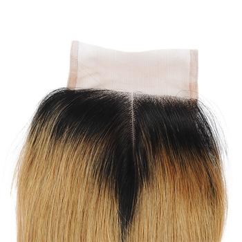 Vvwig Remy Hair 1B 27 Ombre Hair Full And Thick 4 Bundles With Straight Hair Closure Highest Elasticity - Vvwig.com