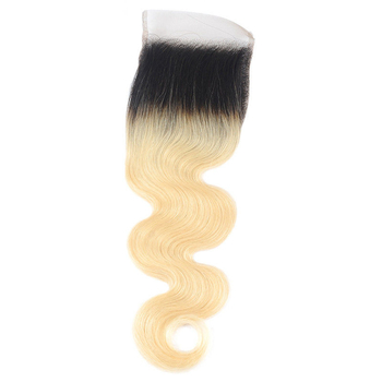 Vvwig Smooth Touch 1B 613 Ombre Color Body Wave Hair Human Hair 4 Bundles With Closure No Smell Or Shedding - Vvwig.com