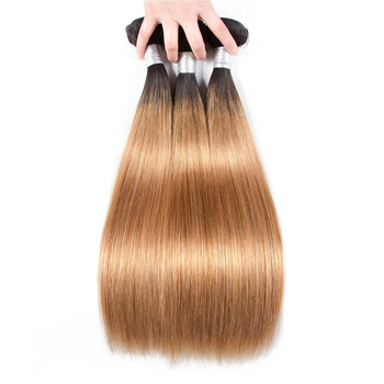 Vvwig Super Soft 1B 27 Ombre Hair Peruvian Straight Hair 3 Bundles With Frontal 13*4 Inch Lace Shedding Free Tangle Free - Vvwig.com